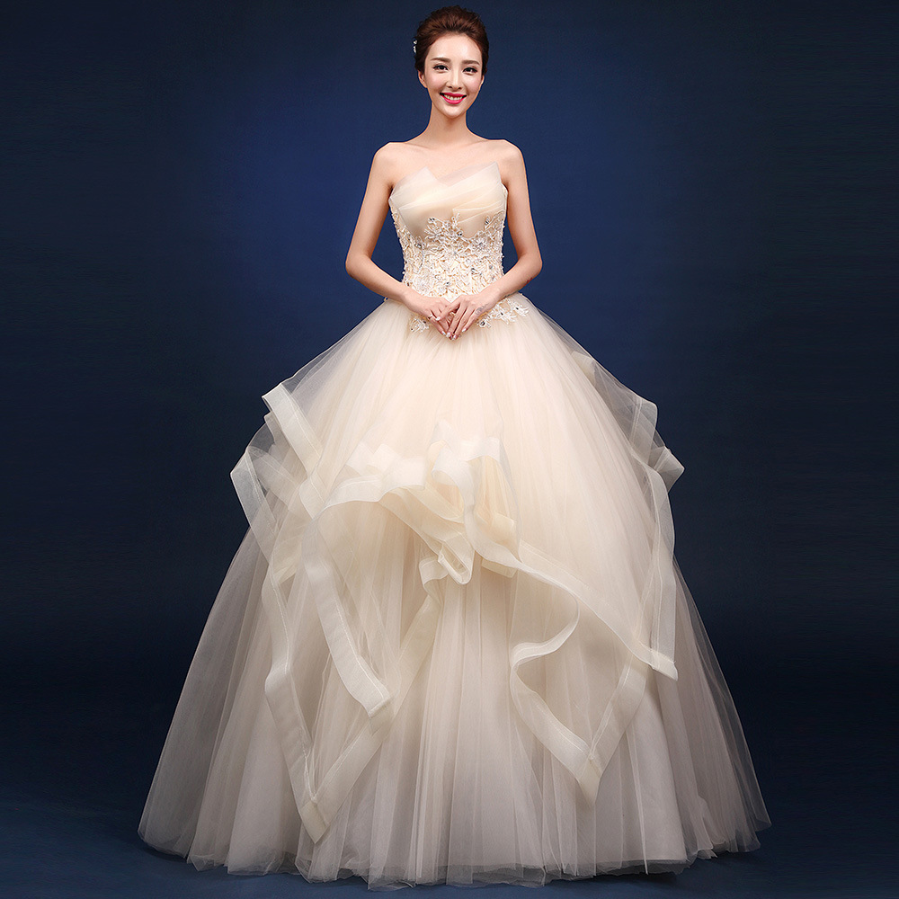 Image 4 - Quinceanera Dresses 2019 The Party Prom Elegant Strapless Ball Gown 5 Colors Formal Homecoming Quinceanera Dress Custom Size F-in Quinceanera Dresses from Weddings & Events