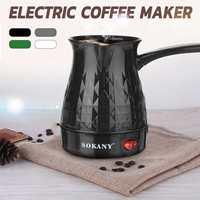 600 w máquina de café grego turco pote café elétrico portátil 500ml máquina espresso rápido e resistente ao calor à prova dwaterproof água plugue da ue|Cafeteiras|   -