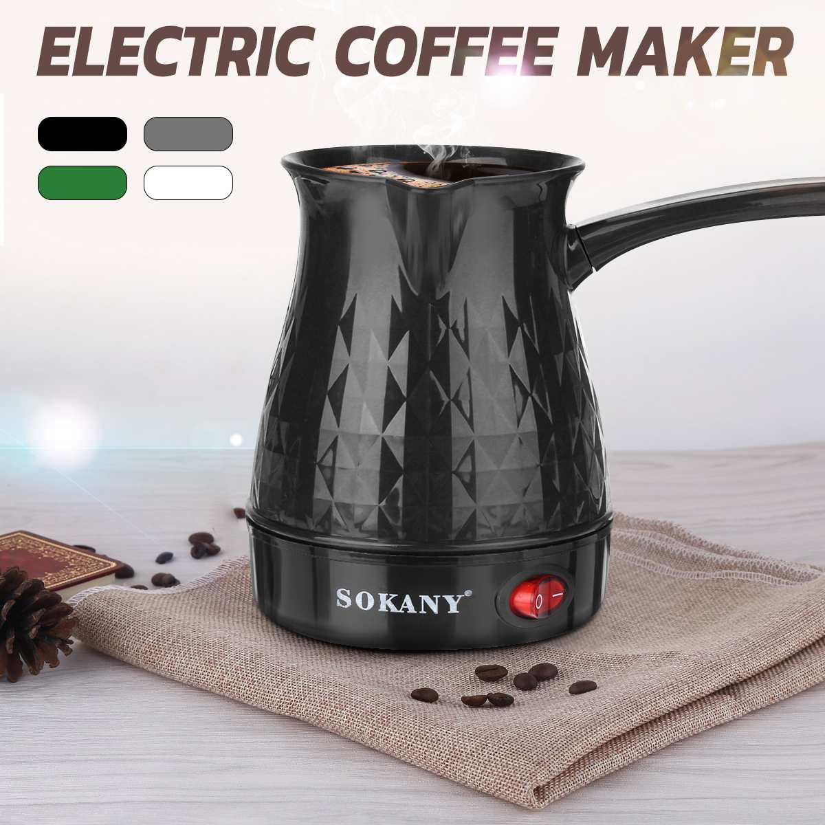 600W Coffee Maker Greek Turkish Electric Coffee Pot Portable 500ml Espresso Machine Fast And Heat Resistant Waterproof EU Plug