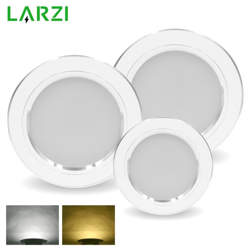 LED Downlight 5W 9W 12W 15W 18W Round White Ultra Thin Aluminum Recessed Lamp 220V 230V 240V Led Bulb Indoor LED Spot Lighting