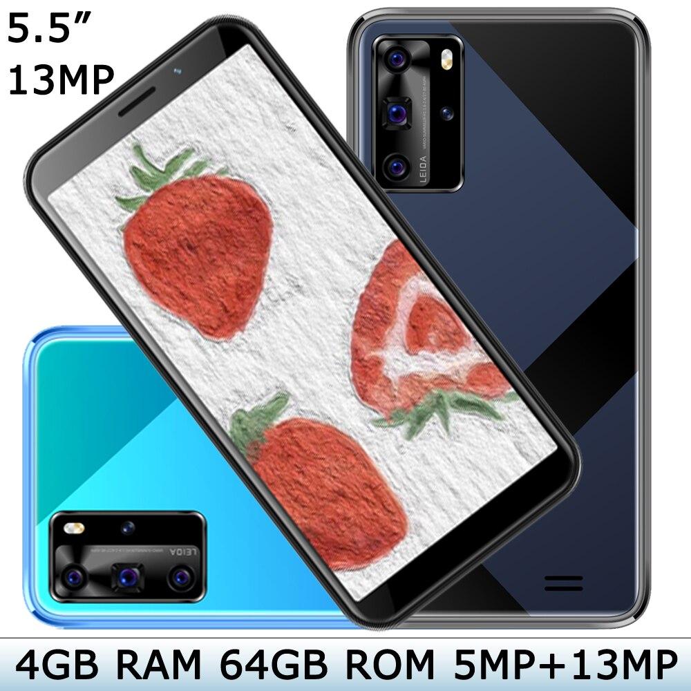 "Teléfono Inteligente 8A Pro, pantalla de 5,5 "", 5MP + 13MP, 4 GB de RAM, 64 GB de ROM, versión Global, Original, identificación facial, desbloqueado, cámara frontal/trasera"