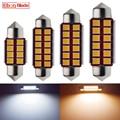 2x автомобиль светодиодный CANBUS лампа теплого белого света гирлянда 31 мм 36 мм/39 мм/41 мм 42 мм C5W C10w лампа для чтения авто интерьер купола Карта св...