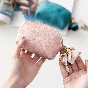 Кошелек для монет, женский маленький чехол для ключей, мини милый кошелек, сумка для денег, держатель, кошелек на молнии, клатч, сумочка для д...