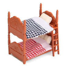 DIY miniatura casa de muñecas oscilación cama accesorios conjuntos para miniaturas muebles juguetes regalos para niños