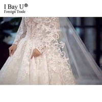 3 Meter Ivory/White Bridal Veils Lace Edge Tulle Bling Seuqins Cathedral Wedding Veil 2020 Long Veu de Noiva Wedding Accessories