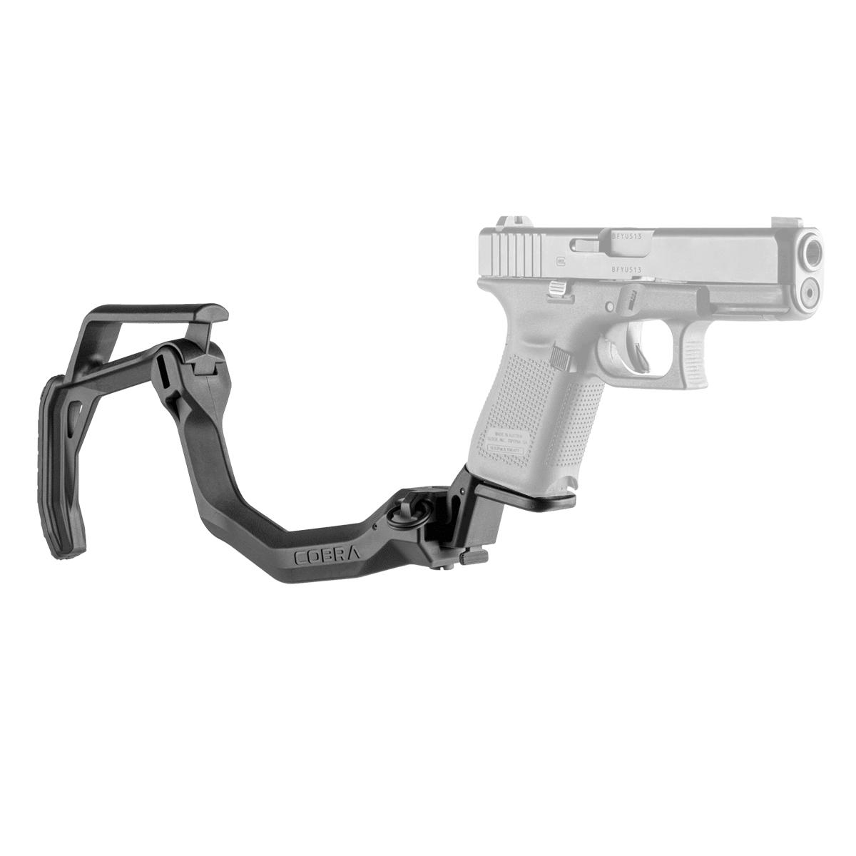 Magorui Collapsible Tactical Cobra Stock For Glock 17-19 Glock Folding Buttstock