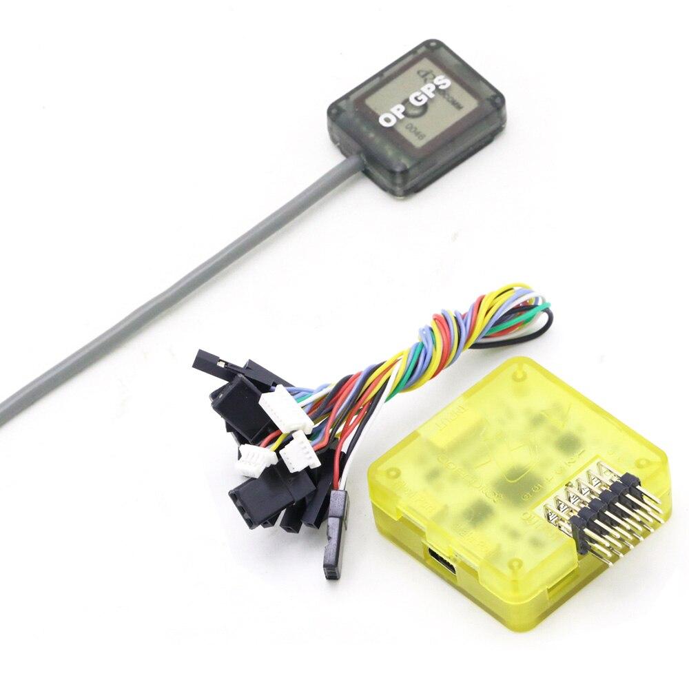 Openpilot CC3D EVO Flight Controller With Yellow Case + 1pcs Mini OP GPS For QAV-R 220 QAV180 210mm Quadcopter