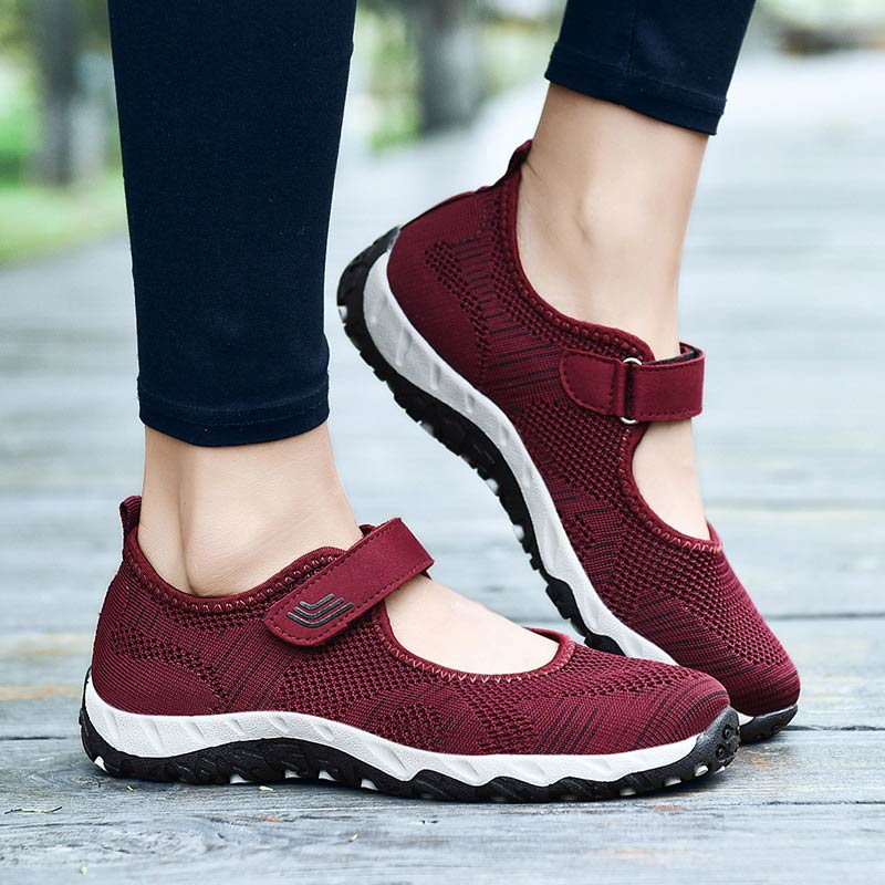 Woman sneakers breathable mesh casual vulcanize shoes 2020 red bottoms ladies shoes female sneakers large size zapatillas mujer