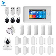Free Shipping via DHL PG106 WIFI+GSM GPRS Wireless Home Security Alarm System 1080P HD Surveillance IP Camera APP Remote Control smart yiba wifi gsm gprs rfid home security alarm system housen surveillance security system wireless ip camera smoke sensor