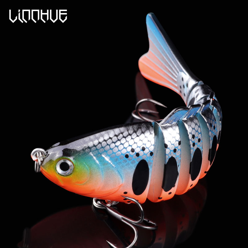 LINNHUE 10cm 16g Sinking Wobblers Fishing Lure Jointed Swimbait Hard Bait Artificial Bait For Pike/Bass Fishing Tackle Lure