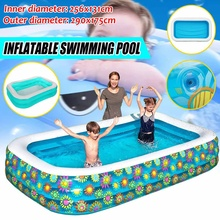 Floating Swimming Pool 1.8m/2.9m Inflatable Swimming Pool for Kids Adults Summer Bathing Tub Home Use Inflatable Paddling Pool