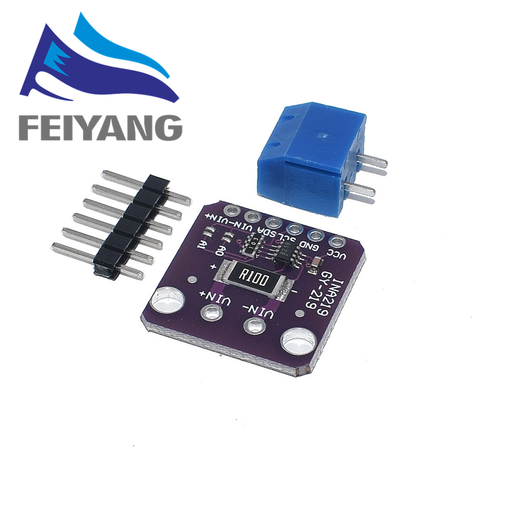 Image 4 - 10PCS INA219 GY 219 Current Power Supply Sensor Breakout Board Module Sensor Module I2C interface High Side DC Current DIY kitIntegrated Circuits   -