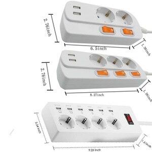 Image 5 - Power Streifen 2/3/4 EU Outlets Steckdose mit USB Quick Charge Port für Smartphones Verlängerung Kabel 1.5/1.8/ 3M Adapter Dock