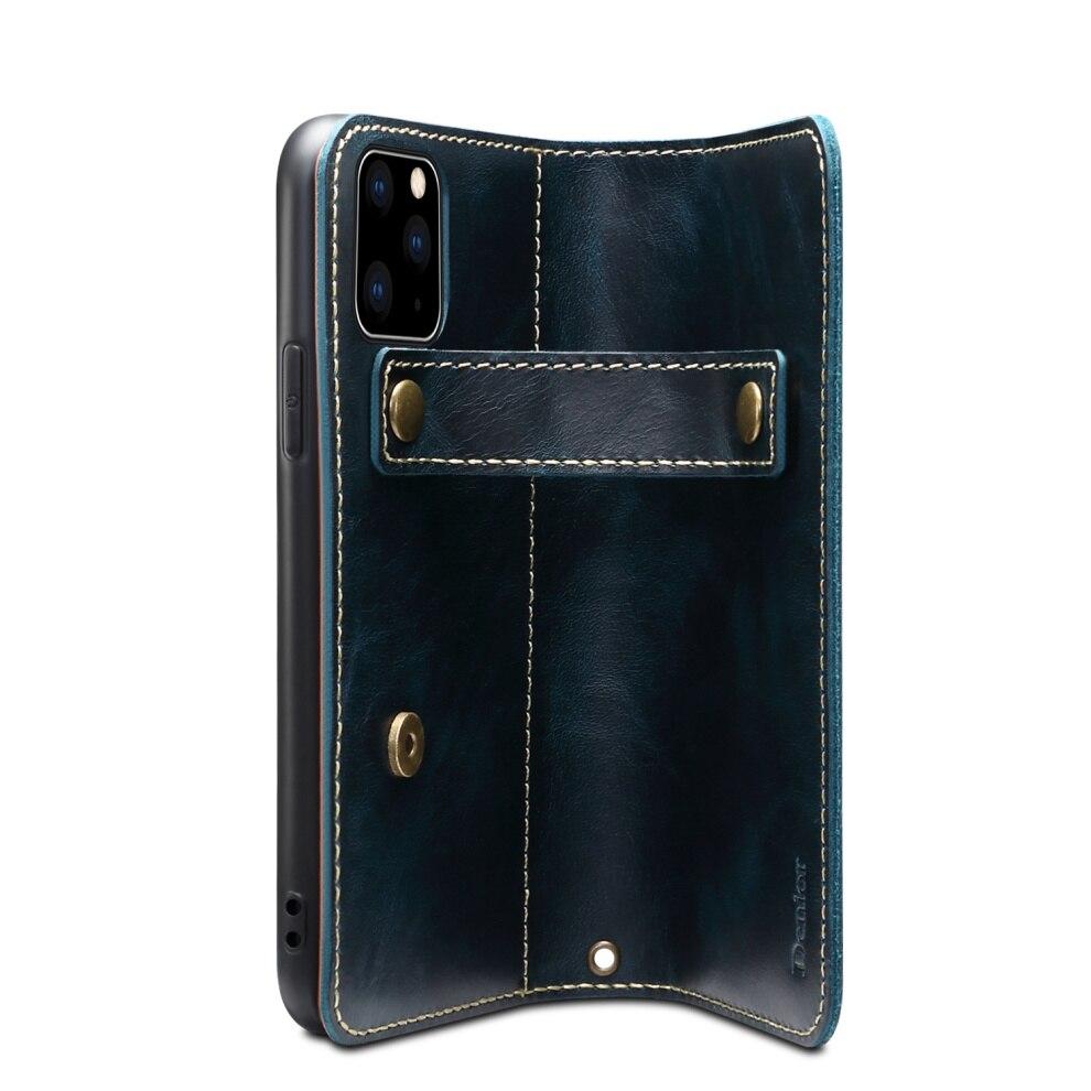 Premium Leather Magnet Button Flip Strap Case for iPhone 11/11 Pro/11 Pro Max 61