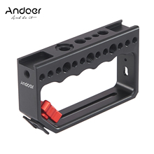 Andoer Camera Top Handle Grip Cheese Handle with Cold Shoe Mount  Video Stabilizing Rig for Camera Cage Light Microphone DSLR