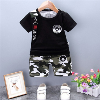 2020 New Summer Army Camouflage Baby Boy Girl Cotton Short Sleeve Shorts 2PCS/Set Top Newborn Clothing Infant Suits Kids Clothes jchao kids 5pcs baby boy clothes new 2017 autumn winter newborn baby sets infant girl clothing suits cotton thick warm underwear