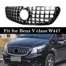 For Mercedes V class W447 GT Grills vito V260 V250 Racing Grille 2016 18 Without Emblem