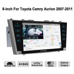 Image 5 - Android 10.0 9 inç 2 din radyo araba 4GB + 64GB kafa ünitesi GPS navigasyon Octa çekirdek toyota Camry 2007 2011 destek 3G/4G DSP BT