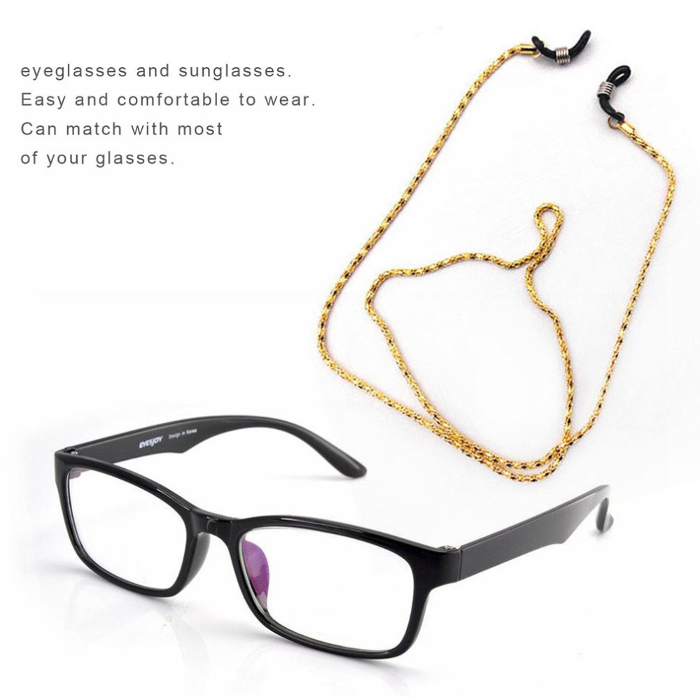 Metal Glasses Rope Reading Glasses Neck Strap Retainer Strap Anti Slip Eyeglass Holder Cord Chains Eyeglass Accessoires