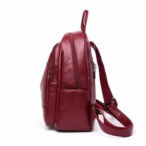 Image 3 - 2019 femmes sacs à Dos en cuir femme voyage Sac à Dos dames Sac A Dos sacs décole pour filles Preppy Style grande capacité Sac à Dos
