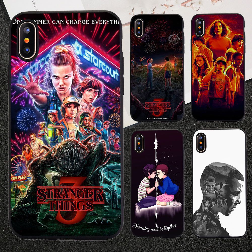 Stranger things season 3 TV show poster Phone Case For iphone XR 11 PRO MAX 6 6s 8 7 Plus 5S SE X XS MAX SOFT TPU Silicone Cover action figure pokemon