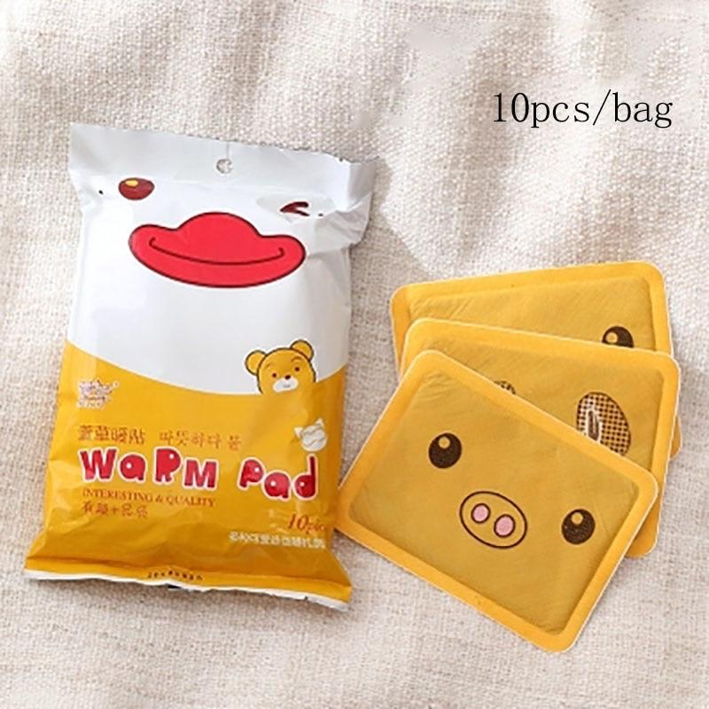 Baffect Cartoon Heating Pad Hand Warmer Foot Body Warmer Sticker Warm Paste Pads Lasting Heat Cute Christmas Gift 10pcs/pack