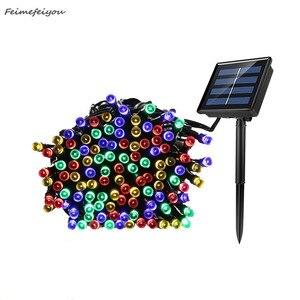 22 M 200 LED Solar Fairy Lights String Waterproof Solar Power Christmas Light Outdoor Garden LED Solar Lamp Holiday Decoration