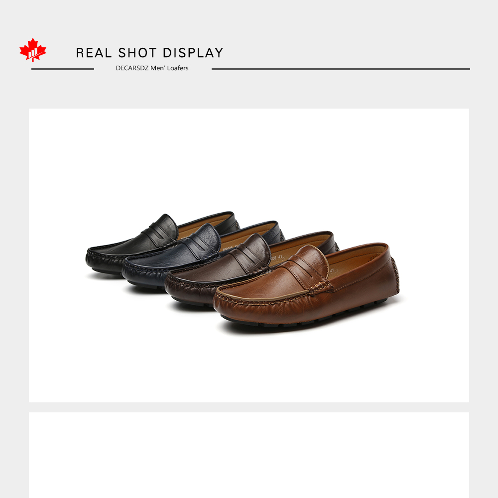 H8e0a7606b1484202aa0b598fd91ba310b Men's Casual Shoes Men Moccasins Autumn Fashion Driving Boat Shoes Male Leather Brand Slip-On Classic Men's shoes Loafers