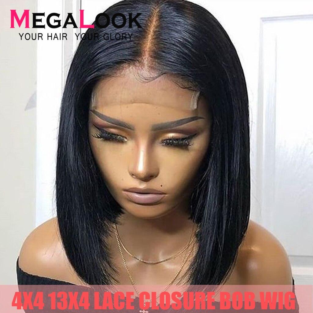 Lace Front Human Hair Wigs 4x4 13x4 Closure Wig Short Human Hair Bob Remy Wigs Brazilian Straight Bob Lace Front Wig Human Hair