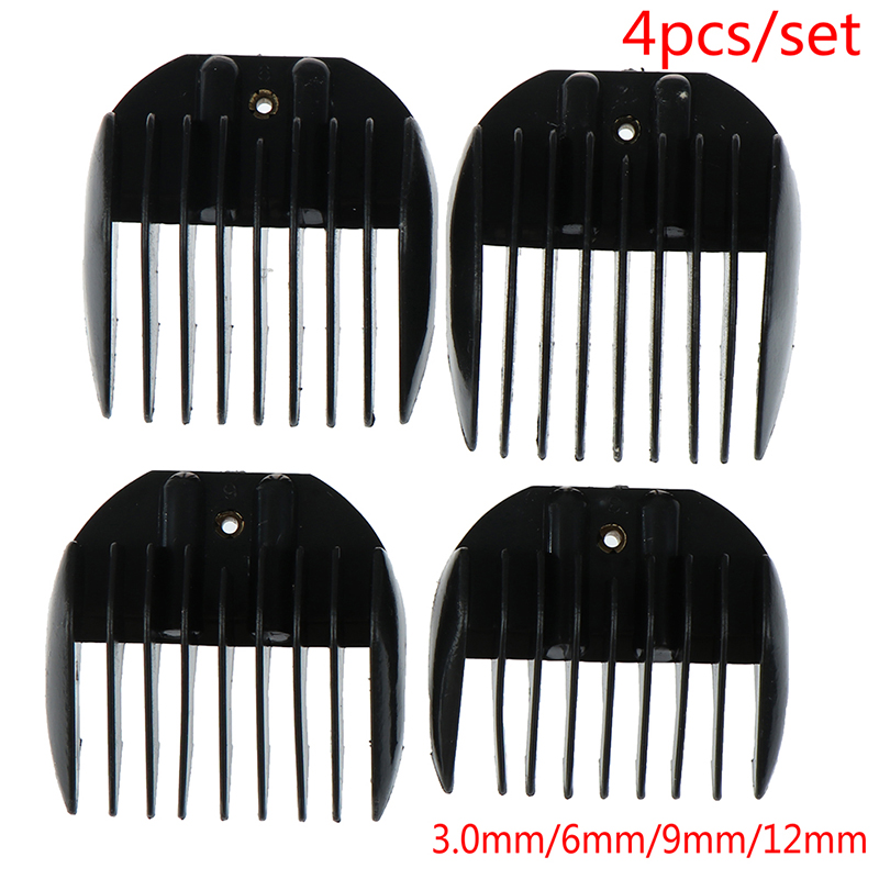 4pcs Hair Clipper Universal Comb Guide Attachment Size Barber Replacement Hair Styler Tools New