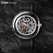 מקורי CIGA עיצוב T גברים/נשים שעון מכאני אוטומטי מלא חלול נירוסטה שעון יד