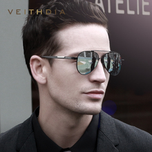 VEITHDIA Mens Aluminum Magnesium Photochromic Sunglasses Polarized UV400 Lens Eyewear Accessories Male Sun Glasses For Men 6699