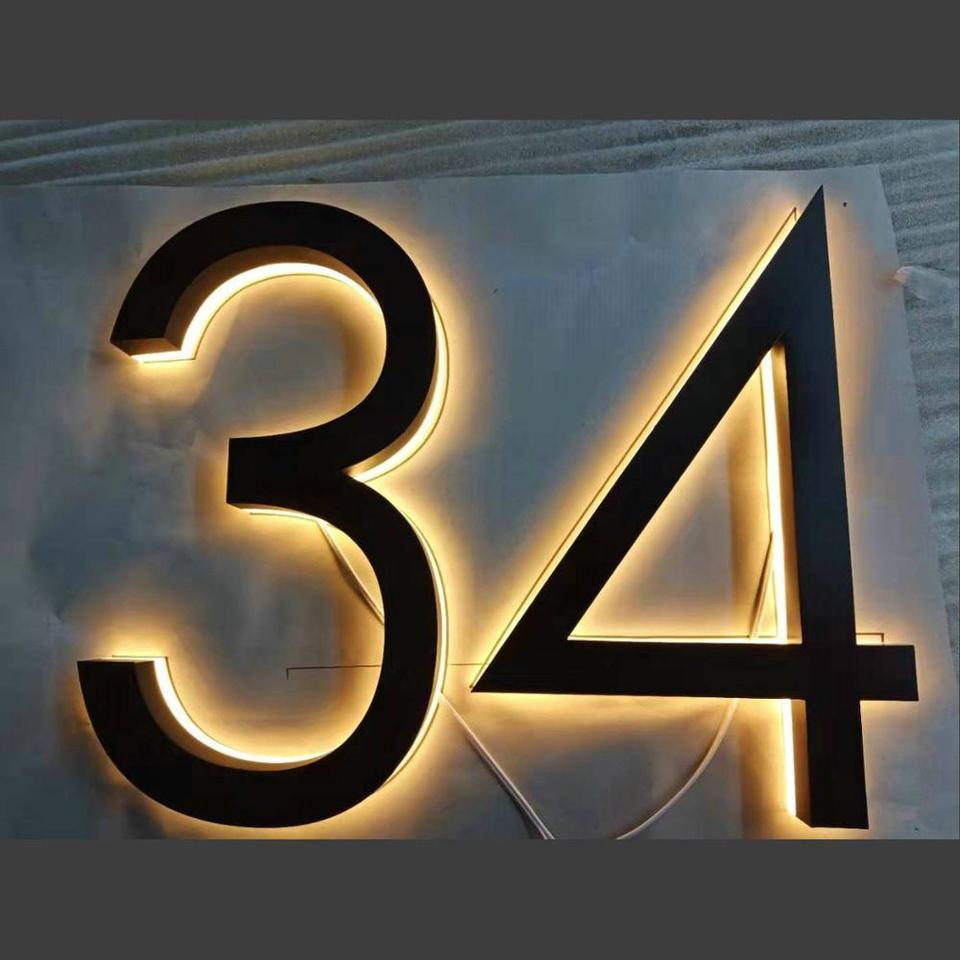 Custom Led Light Letters Outdoor Backlit Light House Numbers 3d Illuminated Letters Sign Door Plates Aliexpress