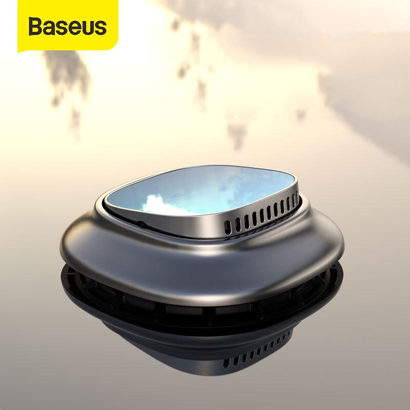 Baseus Alloy Car Air Freshener Perfume Fragrance Auto Aroma Diffuser Aromatherapy Solid Air Outlet Dashboard Perfume HolderAir Freshener   -