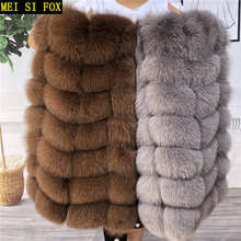 Natural fox fur vest ladies winter autumn coat warm vest made of natural fur women's vest real fur vest genuine fur coat fur ves