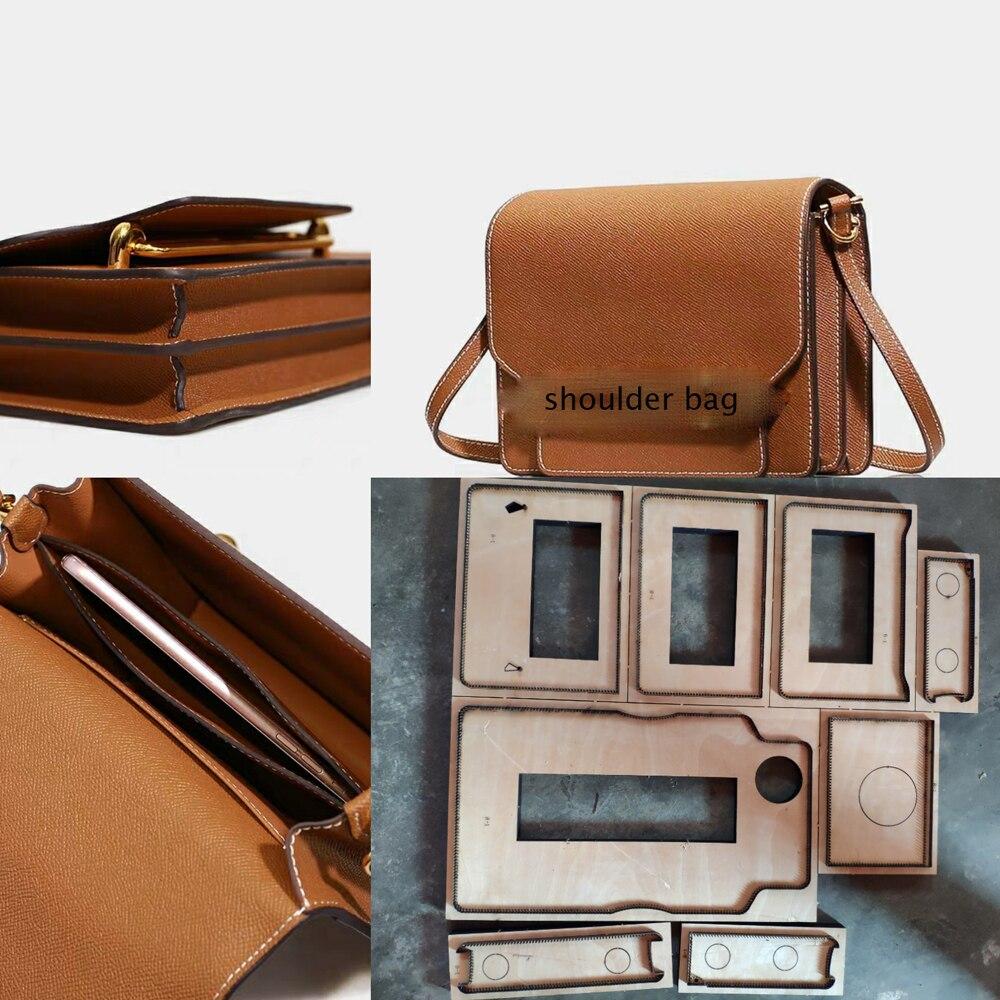 Artisanat cuir bricolage 230x200x70mm femmes sac à bandoulière en métal die cutter évidé perforateur 8 pièces/ensemble