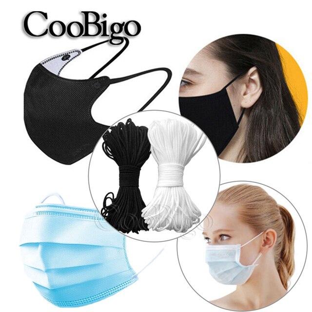5M masques de bouche bandes élastiques masques corde élastique chaîne oreille cordon rond élastique bricolage vêtements artisanat accessoires