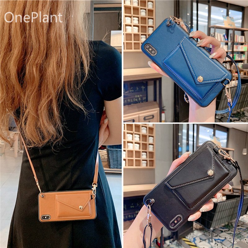 4.99US $ 20% OFF Crossbody Lanyard Wallet Case For iPhone 12 11 Pro XS MAX XR X 7 8 Plus Shoulder st...