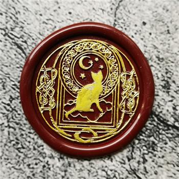Pieczęć głowa nocnego nieba gwiaździste niebo galaktyka kot Retro drewno pieczęć pieczęć wosk pieczęć pieczęć ślub dekoracyjne pieczęć pieczęć woskowa tanie i dobre opinie XunMade CN (pochodzenie) seal stamp Pieczątka standardowa Metal Spersonalizowane godło