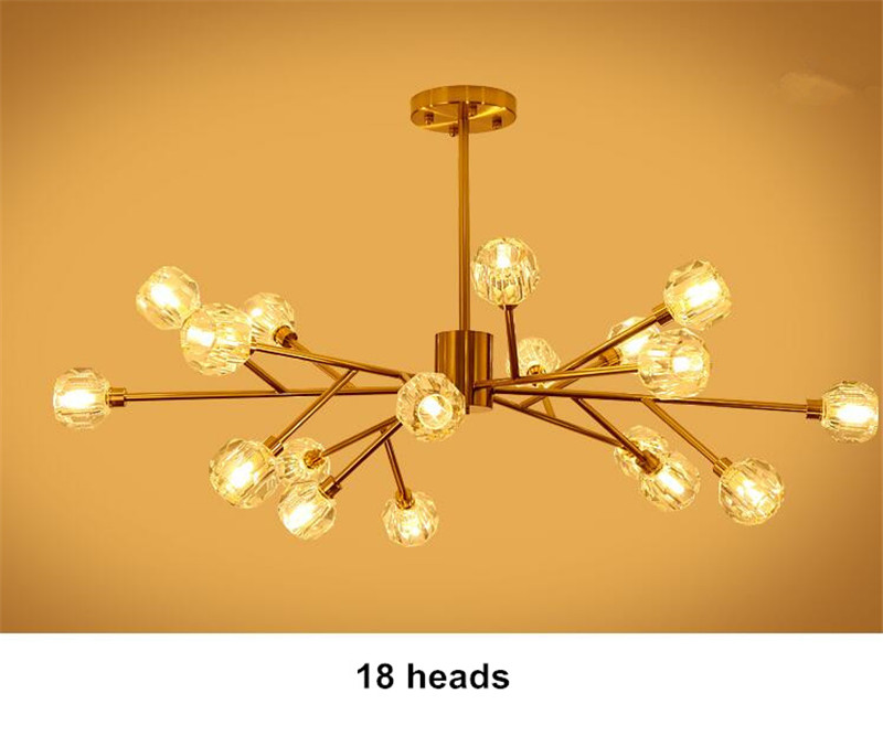 H8e0b31401fc14a1eaaed1004978d26bay Flush Mount Ceiling Light | Ceiling Lamp | New crystal ball ceiling Lighting Gold branch design lustres ceiling lamp for living dining room cristal lighting fixtures Voltage 85-265V