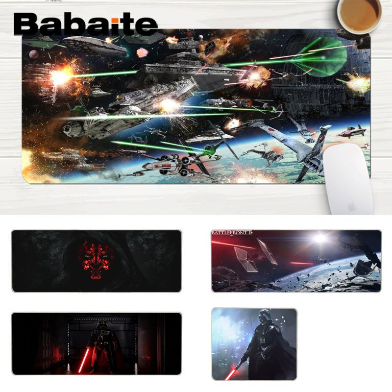 Star Wars Mousepad Gaming MousePad Gamer Mat Game Computer Desk Padmouse Keyboard Large Play Mats to keyboard Mouse Mats For PC image