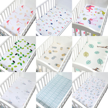 100% Microfabric Crib Fitted Sheet Soft Baby Bed Mattress Cover Protector And Elastic Bed Sheet Cartoon Newborn Bedding baby bed mattress cover soft protector cartoon printed newborn baby bedding for cot 100% cotton crib fitted sheet size 130 70cm