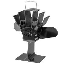 2 Лопасти тепловое питание камин плита вентилятор Алюминиевый бесшумный экологически чистый для дерева