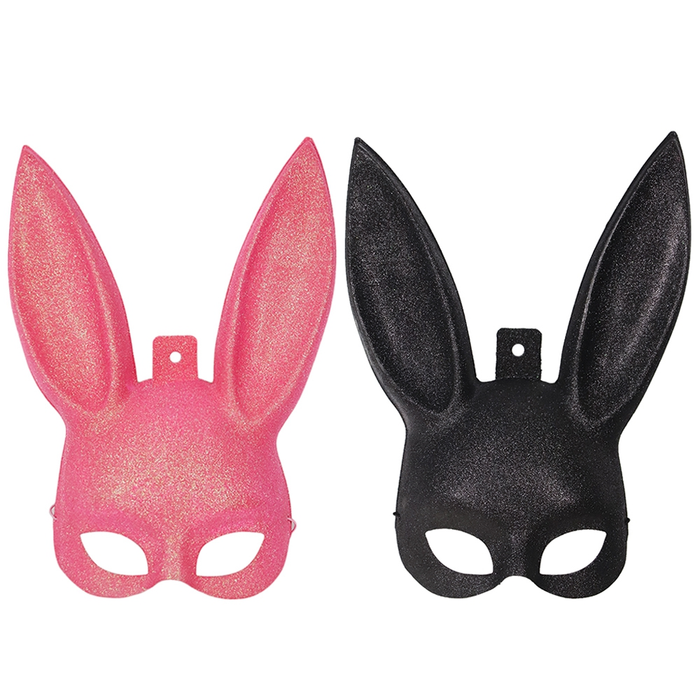 Molezu Women Girl Sexy Rabbit Ears Mask Cute Bunny Long Ears Bondage Mask Halloween Masquerade Party Cosplay Mask