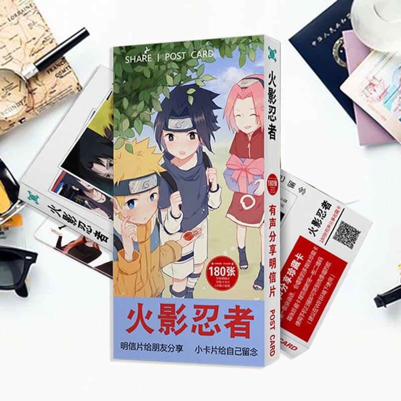 180pcs/set Creative Cute Cartoon Anime Postcard Toy My Hero Academia Magic Paper Postcard Collection Card Toys Gifts