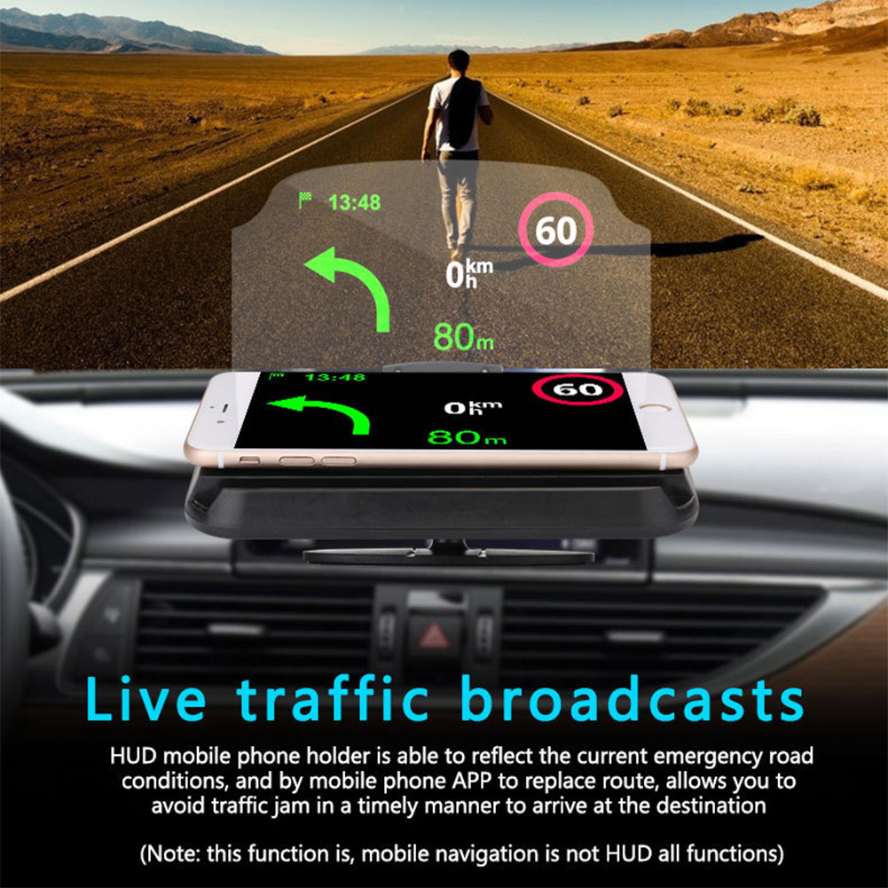 Portable GPS Navigation Speed Warning Phone Holder Multifunction Head Up Display Clear Safe HD Driving Projector Smart Car