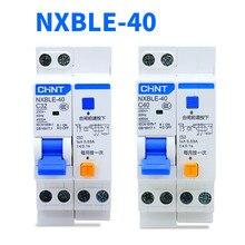 Interruptor da proteção do escapamento de chint NXBLE-40 1 p + n disjuntor 230 v 6a 10a 16a 20a 25a 32a 40a disjuntor atual residua