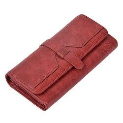 Заводская распродажа, Женский кошелек, длинный, натуральная кожа, красный, Rfid Блокировка, карта, кошелек, женские кожаные кошельки, винтажны...