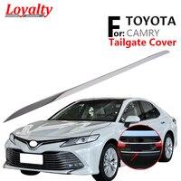 Lealdade para 2018 2019 2020 8 thtoyata camry porta traseira pára bagageira capa guarnição de aço inoxidável acessórios automóveis estilo do carro