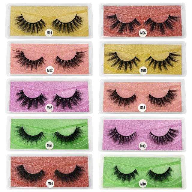3D eyelashes Wholesale lashes 10/20/30/50pcs mink lashes Natural with Eyelash beauty Supplies makeup false eyelashes faux cils 3